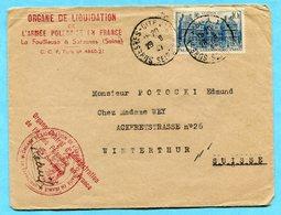 Brief Absender: Organe De Liquidation L?Armee Polonaise En France 1937 - France