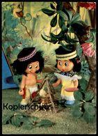 ÄLTERE POSTKARTE HUMMELWERK LAGERFEUER KLEIN ADLERAUGE UND SILBERSCHLANGE WALT DISNEY Cpa Postcard Ansichtskarte - Disney