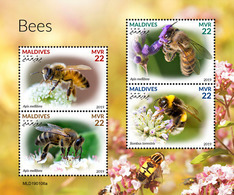 MALDIVES 2019 - Bees. Official Issue [MLD190106a] - Abeilles