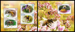 MALDIVES 2019 - Bees. M/S + S/S Official Issue [MLD190106] - Abeilles