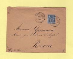 Fontenay Sous Bois - Seine - 3 Juin 1890 - Type Sage - Marcophilie (Lettres)