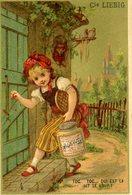 CHROMO Liebig Dorée S115 Conte Pour Enfants N°4 Le Petit Chaperon Rouge Toc..toc.. Qui Est Là Dit Le Loup - Liebig