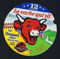 """Etiquette Fromage La Vache Qui Rit   """" Le Monde Perdu Les Dinosaures Brillent Dans Le Noir 12 Portions  """" - Cheese"""