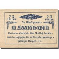 Billet, Autriche, Hofen, 20 Heller, Blason, 1920, 1920-12-31, SPL, Mehl:FS 594c - Oesterreich