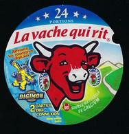 """Etiquette Fromage La Vache Qui Rit   """" Digimon 24  Portions  """" - Cheese"""