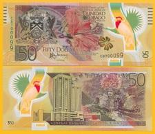 Trinidad & Tobago 50 Dollars P-54 2014 (Prefix CB) Commemorative UNC Polymer - Trinidad & Tobago