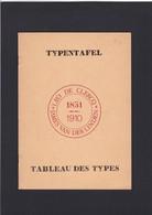 BELGIQUE OBLITERATIONS TABLEAU DES TYPES /  TYPENTAFEL  Par Leo De Clercq  12 Pages - Guides & Manuels