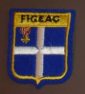 Ecusson Brodé Figeac Bleu - Patches