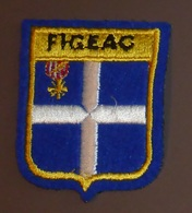 Ecusson Brodé Figeac Bleu - Ecussons Tissu