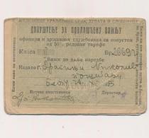 1923 KINGDOM SHS  YUGOSLAVIA - Railway, Eisenbahn, Legitimation, Photo Serbia Beograd - Abonnements Hebdomadaires & Mensuels