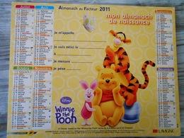 2011 Almanach/calendrier Lavigne  MON ALMANACH  DE NAISSANCE 2011 / DISNEY / WINNIE L'OURSON - WINNIE THE POOH - Tamaño Grande : 2001-...