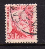 SPAIN ESPAÑA SPAGNA 1935 GUMERSINDO DE AZCARATE CENT. 30c USATO USED OBLITERE' - 1931-Aujourd'hui: II. République - ....Juan Carlos I