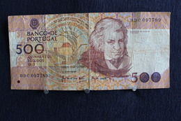 35 /  Banco De Portugal,  500 Escudos  /  N° B D C 097789 - Portugal