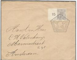 Netherlands Very Clear Olympic Handcancel With N3 In The Cancel On Cover With 10 Cent Imperforated - Summer 1928: Amsterdam