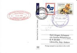 Luftpost Deutschland Lufthansa Erstflug 2009 LH565 A340-300 Accra-Libreville - [7] République Fédérale