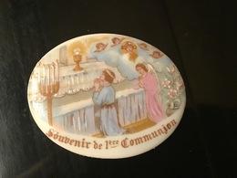 """Antica PLACCA PORCELLANA LIMOGES """" Souvenir De 1er Communion """" - Limoges (FRA)"""