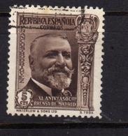 SPAIN ESPAÑA SPAGNA 1936 JOSE FRANCOS RODRIGUEZ CENT. 5c USATO USED OBLITERE' - 1931-Aujourd'hui: II. République - ....Juan Carlos I