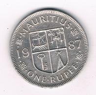 ONE RUPEE 1987 MAURITIUS /4431/ - Mauricio