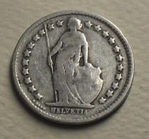 1906 - Suisse - Switzerland - 1/2 FRANC (B), Argent, Silver, KM 23 - Suisse