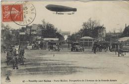 NEUILLY SUR SEINE   PORTE MAILLOT  BALLON DIRIGEABLE - Neuilly Sur Seine
