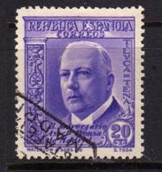SPAIN ESPAÑA SPAGNA 1936 TORCUATO LUCA DE TENA CENT. 20c USATO USED OBLITERE' - 1931-50 Gebraucht