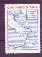 ERINOFILO CINDERELLA  GIRO AEREO D'ITALIA 1931  (GIUGN190008) - Cinderellas