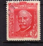 SPAIN ESPAÑA SPAGNA 1936 ALEJANDRO LERROUX CENT. 30c USATO USED OBLITERE' - 1931-Aujourd'hui: II. République - ....Juan Carlos I