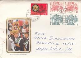 BRIEF SCHWEIZ  - 5 Fach Frankierung Gel.1984? - Schweiz