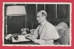 """Pape Pie XII / Paus Pius XII  ....Carte Vendu Au Profit De """" Radio Vatican """"  ( Voir Verso ) - Papes"""