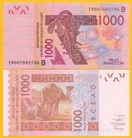 West African States 1000 Francs Benin (B) P-215B 2019 UNC Banknote - West-Afrikaanse Staten