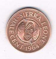1/2 CENT 1964 SIERRA LEONE /4437/ - Sierra Leone