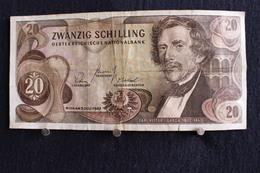 40 /  Autriche, 20 Schilling  2 Julliet 1967 /  N° B  484090  K - Autriche