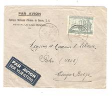 PR6571/ TP 772 Exportation S/L.Avion Entête F.N. D'Armes De Guerre C.Herstal 1950 V.Congo Belge Poko Via Stanley - Storia Postale