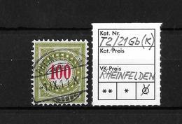 1899 - 1900 NACHPORTOMARKEN → SBK-Type II 21Gb (K) Rundstempel RHEINFELDEN - Portomarken
