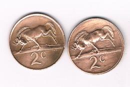 2 X 2 CENTS  1981 + 1984 ZUID AFRICA /4438/ - Afrique Du Sud
