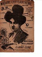 PARTITION / 180 :MADAME CHRYSANTHEME / ILLUSTRATEUR PLOUSTHOMIS / - Liederbücher