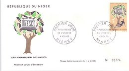 NIGER UNESCO NIAMEY 1966 NUMBERED (MAGG190125) - UNESCO