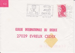 Lettre 1983 Annulation à L'arrivée SECAP 27 EVREUX RP Bloc Dit De Montargis Sur Liberté 2,00 Rouge - Postmark Collection (Covers)
