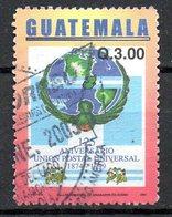 GUATEMALA. N°489 Oblitéré De 2002. UPU. - UPU (Union Postale Universelle)