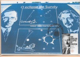 CARTE MAXIMUM - MAXIMUM KARTE -TARJETA MAXIMA - MAXIMUM CARD - PORTUGAL - 100 ANS D'ECLIPSE DE EINSTEIN - Albert Einstein