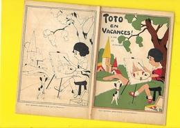 """Album Coloriage """"Toto En Vacances"""" Pages  Format 12 X 18 Cm Env. - Vieux Papiers"""