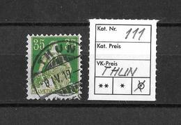 1908 - 1940 HELVETIA MIT SCHWERT → SBK-111 Rundstempel THUN - Schweiz