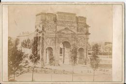 Photo Ancienne-Cabinet-CDV-  Orange - 84 - Vaucluse  - Arc De Triomphe Antique  -Old Original Photo-  Photographe - Luoghi