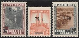 Belgian Congo 1941 - Sc 184/186 - National Park - MLH SET - Belgian Congo
