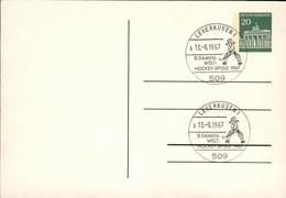 Germany BRD Rare Special PS Card Woman Hockey 1967 Gm77 - Hockey (Field)