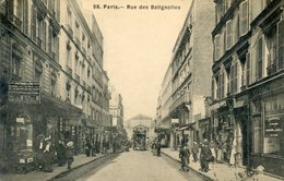 75  PARIS 17e AR   RUE  DES BATIGNOLLES - Arrondissement: 17