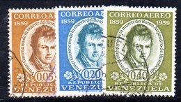 CI1220 - VENEZUELA 1960, Posta Aerea Serie Yvert N. 683/685  Usata.  Humboldt - Venezuela