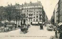 75  PARIS 17e AR   PLACE DES BATIGNOLLES  ET RUE DES MOINES - Arrondissement: 17