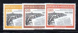 CI1222 - VENEZUELA 1960, Posta Aerea Serie Yvert N. 704/706  Nuovo ***.  Gazeta - Venezuela