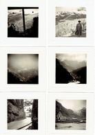 Collection De 23 Photos Prises Lors D'un Voyage à La Furka Et Au Glacier Du Rhône Fin Des Années 1950 Avec Les Négatifs - Orte
